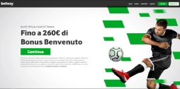 Betway scommesse sportive online homepage