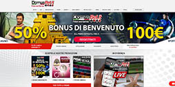 DomusBet scommesse sportive online homepage