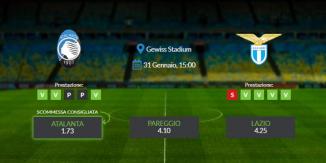 Consigli per Atalanta vs Lazio: domenica 31 gennaio 2021 - Serie A