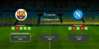 Consigli per Barcellona vs Napoli: sabato 08 agosto 2020 - Champions League