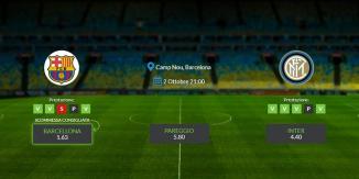 Consigli per Barcellona – Inter: mercoledi 02 ottobre 2019 - Champions League