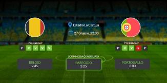 Belgio vs Portogallo - domenica 27 giugno 2021