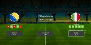 Consigli per Bosnia - Italia: venerdi 15 novembre 2019 - Qualificazioni Euro 2020