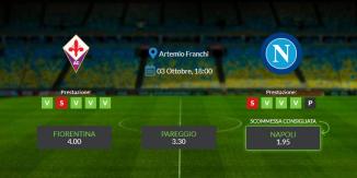 Consigli per Fiorentina vs Napoli: domenica 03 ottobre 2021 - Serie A