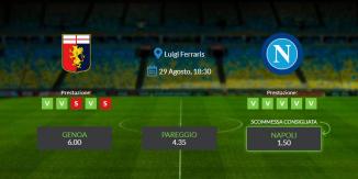 Consigli per Genoa vs Napoli: domenica 29 agosto 2021 - Serie A