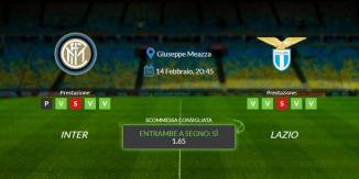 Consigli per Inter vs Lazio: domenica 14 febbraio 2021 - Serie A