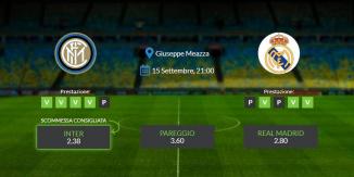 Consigli per Inter vs Real Madrid - mercoledì 15 settembre 2021 – Champions League
