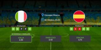 Italia vs Spagna - mercoledì 06 ottobre 2021