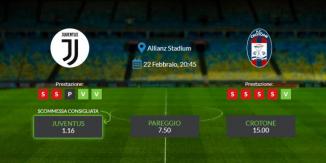 Consigli per Juventus vs Crotone: lunedi 22 febbraio 2021 - Serie A