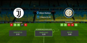 Consigli per Juventus vs Inter: domenica 01 marzo 2020 - Serie A