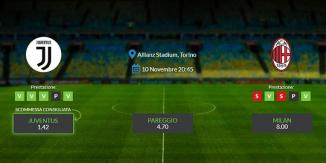 Consigli per Juventus - Milan: domenica 10 novembre 2019 - Serie A