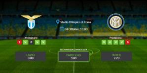 Consigli per Lazio vs Inter: domenica 04 ottobre 2020 - Serie A