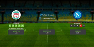 Consigli per Liverpool - Napoli: mercoledì 23 novembre 2019 - Champions League