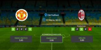 Consigli per Manchester United vs Milan: giovedi 11 marzo 2021 - Europa League
