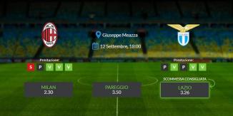 Consigli per Milan vs Lazio: domenica 12 settembre 2021