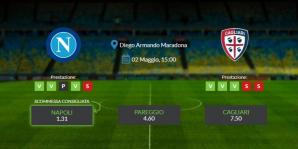Consigli per Napoli vs Cagliari: giovedi 02 maggio 2021 - Serie A