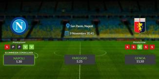 Consigli per Napoli - Genoa: sabato 09 novembre 2019 - Serie A