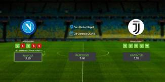 Consigli per Napoli vs Juventus: domenica 26 gennaio 2020 - Serie A