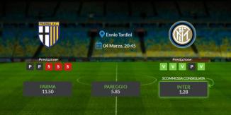 Consigli per Parma vs Inter: giovedi 04 marzo 2021 - Serie A