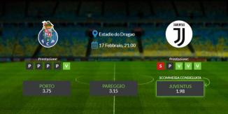 Consigli per Porto vs Juventus: mercoledì 13 febbraio 2021 - Champions League