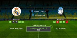 Consigli per Real Madrid vs Atalanta: martedì 16 marzo 2021 - Champions League