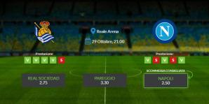 Consigli per Real Sociedad vs Napoli - giovedì 29 ottobre 2020 - Europa League