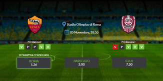 Consigli per Roma vs Cluj - giovedì 05 novembre 2020 - Europa League
