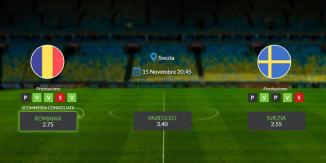 Consigli per Romania - Svezia: venerdi 15 novembre 2019 - Qualificazioni Euro 2020