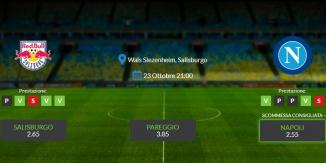 Consigli per Red Bull Salisburgo – Napoli: mercoledi 23 ottobre 2019 - Champions League