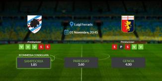 Consigli per Sampdoria vs Genoa: domenica 01 novembre 2020 - Serie A