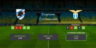 Consigli per Sampdoria vs Lazio: sabato 17 ottobre 2020 - Serie A