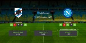 Consigli per Sampdoria - Napoli: giovedì 23 settembre 2021