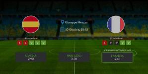 Spagna vs Francia - domenica 10 ottobre 2021