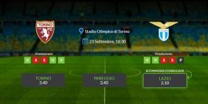 Consigli per Torino - Lazio: giovedì 23 settembre 2021