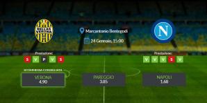 Consigli per Verona vs Napoli: domenica 24 gennaio 2021 - Serie A