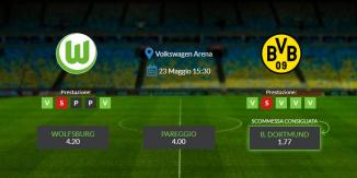 Consigli per Wolfsburg vs Borussia Dortmund: sabato 23 maggio 2020 - Bundesliga